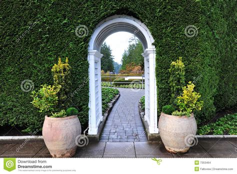 Garden Arch Vancouver Garden Arch And Path Stock Images Image 7353464