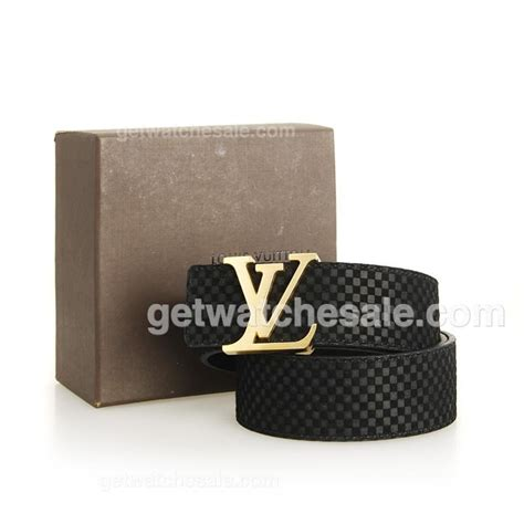 Jual Louis Vuitton Calf Leather Belt With Gold Buckle Mirror Quality 2 louis vuitton s damier calfskin leather belt polished