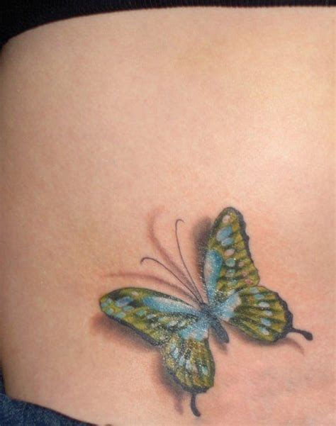tattoo butterfly with shadow green butterfly tattoo tattoos pinterest