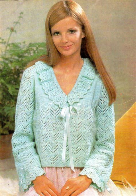 free knitting pattern bed jacket items similar to bed jacket vintage knitting pattern pdf