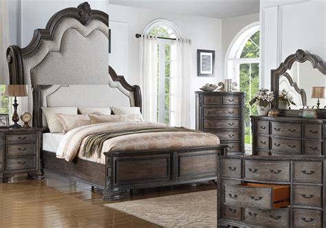 Sheffield Bedroom Furniture Sheffield Antique Grey King Bedroom Set Louisville Overstock Warehouse