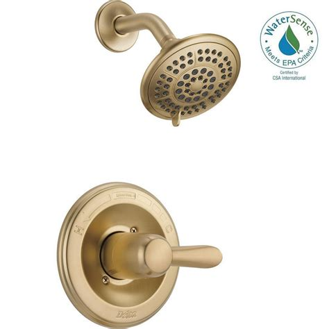 Delta Shower Faucets With Sprays by Delta Lahara 1 Handle 1 Spray Shower Faucet Trim Kit In Chagne Bronze Valve Not Included