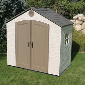 lifetime 8 ft w x 5 ft d plastic storage shed reviews