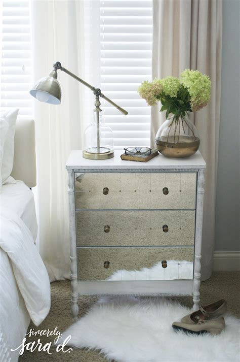 Diy Mirrored Dresser Drawers by Turned Leg Mirrored Rast Chest Hack Remodelaholic