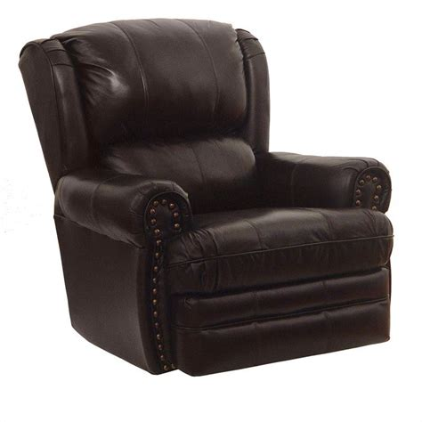 Oversized Rocker Recliner Catnapper Buckingham Leather Oversized Rocker Recliner In Chocolate Ebay