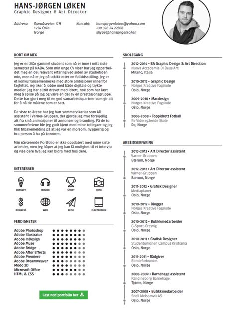 Free Creative Resume Template by Free Creative Single Page Resume Template
