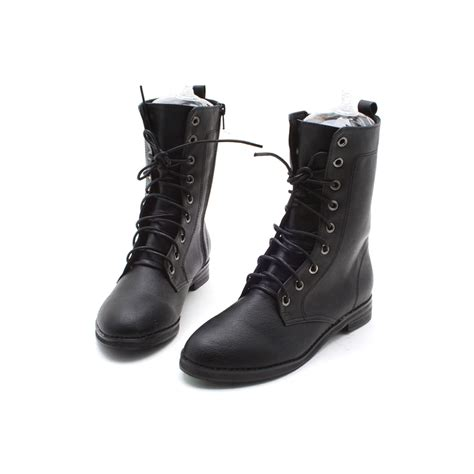 womens black lace up boots leather ankle lace up boots yu boots