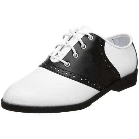 50 s vintage black white saddle shoes oxford grease