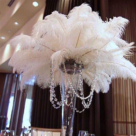 buy wholesale ostrich feather centerpieces from