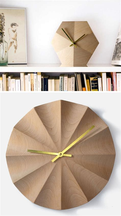 spatially telling time modern architecture inspired clock 14 modern wood wall clocks to spruce up any decor