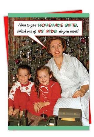homemade gifts naughty christmas card