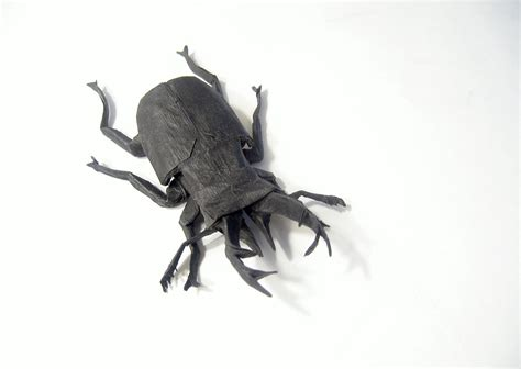origami stag beetle i c ant believe how complex and realistic these origami