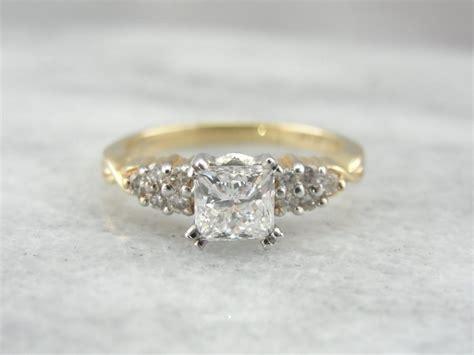 vintage princess cut engagement ring pretty