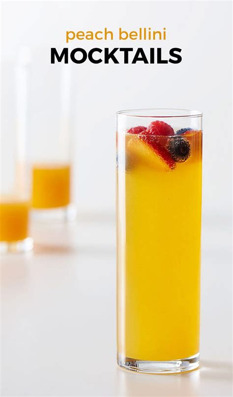 Peach Bellini Mocktails Recipe In 2019 Breakfast