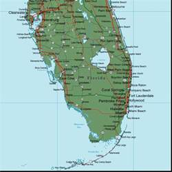 map of se florida florida map