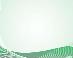 nice green curves powerpoint template ppt