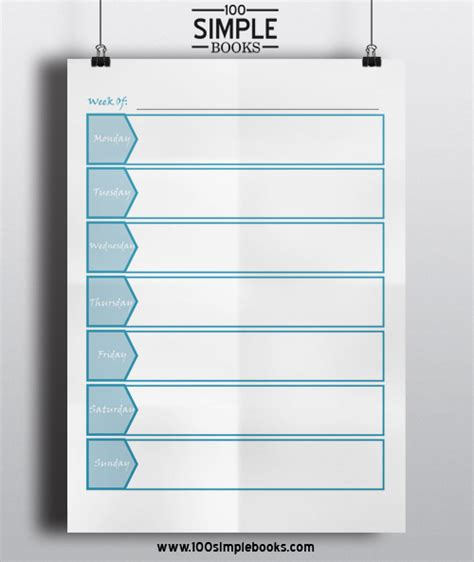 is simple books free weekly planner template 100 simple books