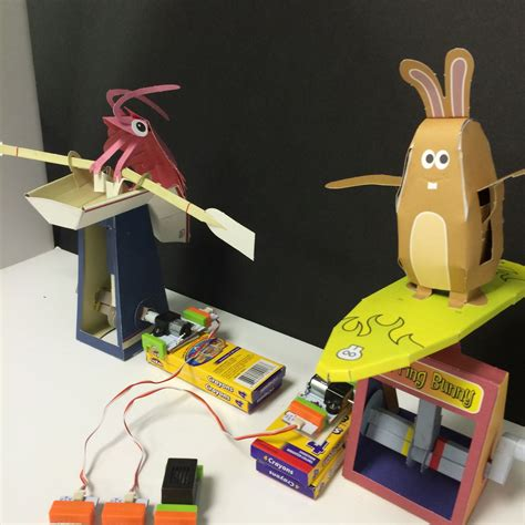 Automata Papercraft - papercraft automata race littlebits circuit using