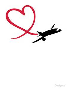 Kids Wall Sticker quot airplane heart love quot stickers by designzz redbubble