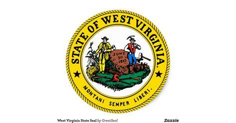 28 wvu home decor west virginia seal flag state west virginia state seal classic round sticker