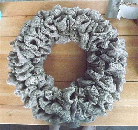 how to make a wreath with burlap how to make a burlap wreath wreaths pinterest