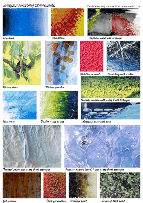 7 Painting Techniques by Acrylic Painting Techniques Painting