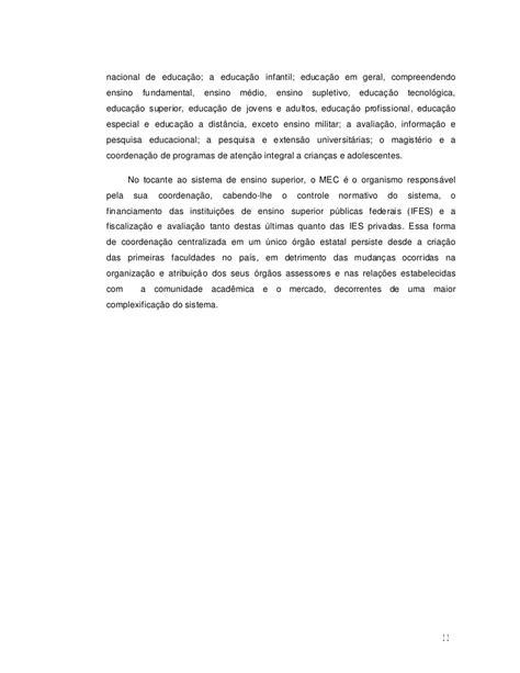 A estrutura e o funcionamento do ensino superior no brasil