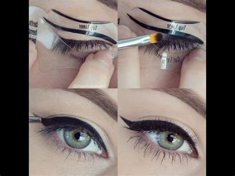 Tutorial Eyeliner Stencil | beth bender beauty eyeliner stencil tutorial winged