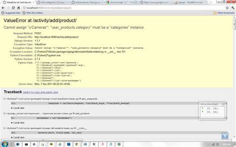 django tutorial stackoverflow django valueerror cannot assign stack overflow