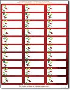 red foil address labels foil border address labels