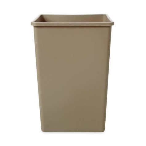 commercial trash cans rubbermaid commercial products untouchable 35 gal beige square trash can rcp395800bg the home