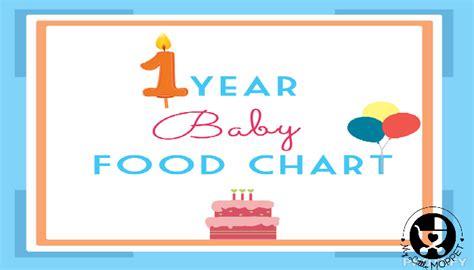 1 Year Baby Food - 1 year baby food chart