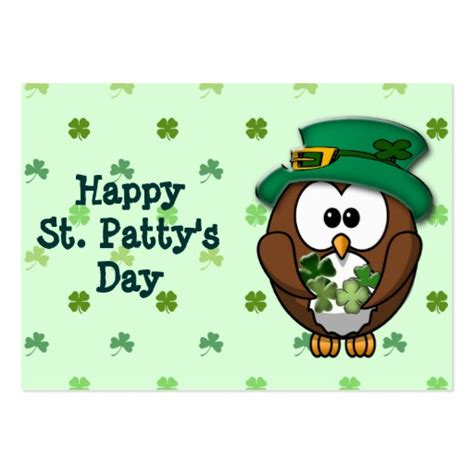 St S Day Photo Card Template by St S Day Owl Business Card Template Zazzle