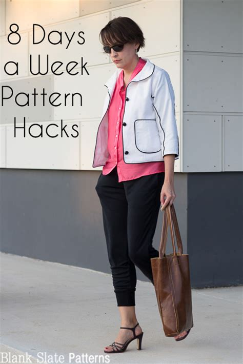 sewing pattern hacks lengthen bodice into a shirt 8 days a week pattern hack