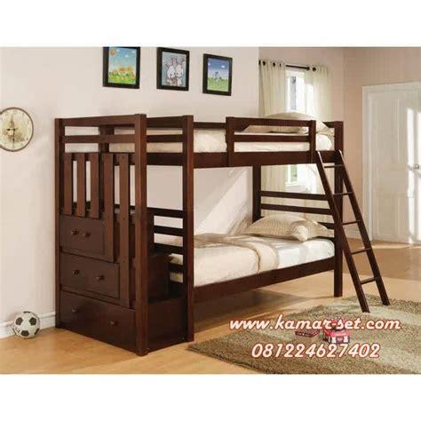 Tempat Tidur Kayu Laci tempat tidur anak tingkat tangga laci kayu jati kamar