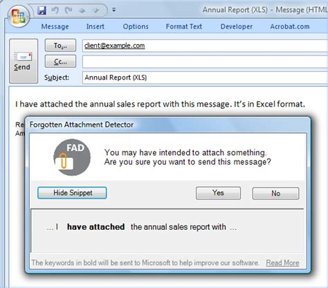 email with attachment outlook attachment reminder never forget an email