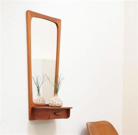 Wall Shelf Design 1960s Danish Modern Vintage Teak Wall Mirror Shelf Drawer