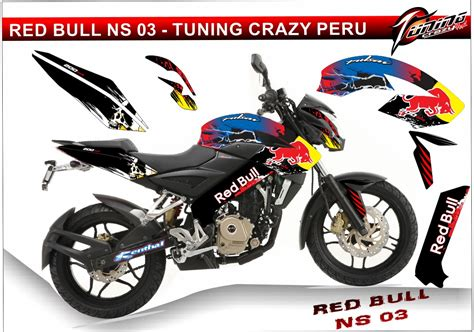 Sticker Tuning Para Motos by Tuning Motos Pulsar 200 Ns Monster Rockstar Fox
