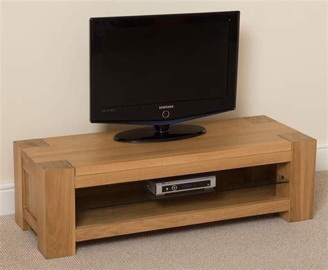 kuba solid oak widescreen tv unit small modern