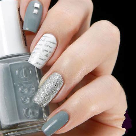 imagenes de uñas en blanco y plata 10 manicuras en color gris que amar 225 s