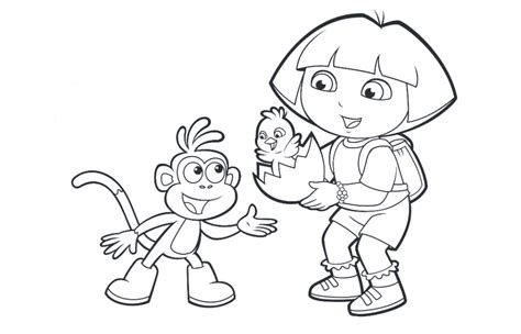 simple dora coloring pages dora coloring pages backpack diego boots swiper print