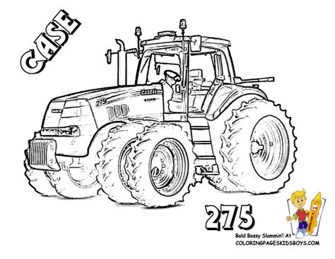 coloring pages fired up free tractor coloring tractors