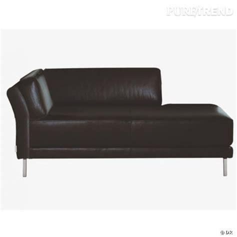 canapé cuir habitat canap 233 habitat du cuir noir dans le salon pour se lover
