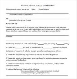 Renting Agreement Template by Sle Blank Rental Agreement 8 Free Documents In Pdf