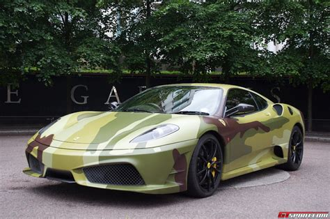 camo ferrari for sale camo wrapped ferrari 430 scuderia gtspirit
