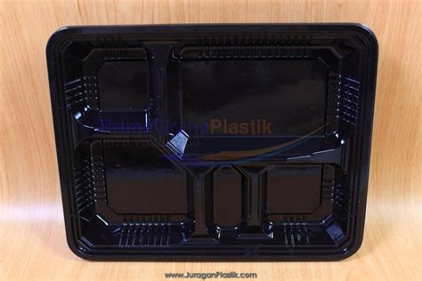 Kotak Bento Sekat Isi 20 Pcs box bento hitam quot 5 sekat quot stock ready home
