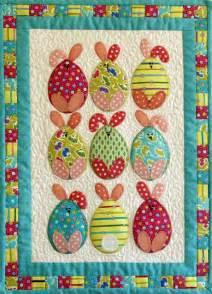 easter egg bunnies patchwork bliss