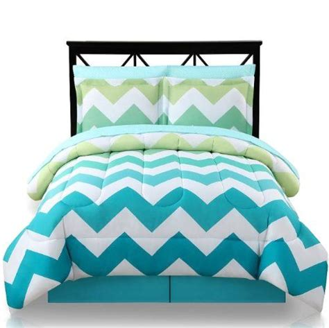 turquoise and yellow bedding light green yellow turquoise chevron queen comforter skirt and sheet bedding set 8