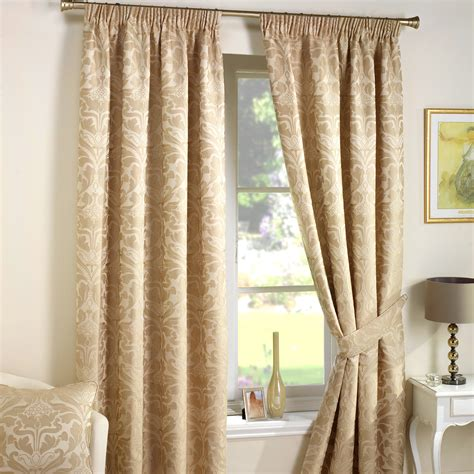 damask curtain luxury jacquard curtains heavy weight fully lined pencil