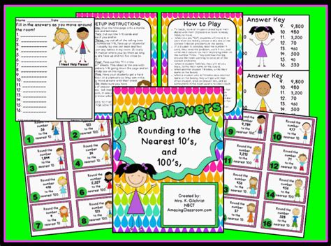 printable estimation games rounding board games 3rd grade rounding numbers